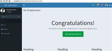 yii2 adminlte layout yii2搭建后台并实现rbac权限控制完整实例教程 yii2rbac php教程 帮客之家