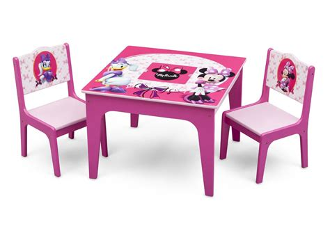 Minnie Mouse Table And Chairs by Minnie Mouse Deluxe Table Chair Set With Storage Delta