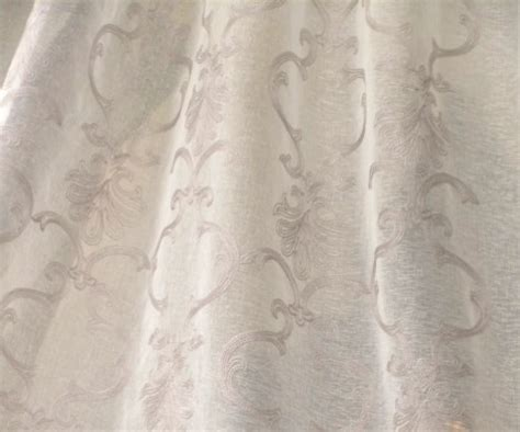 embroidered sheer drapery fabric althea silver embroidered sheer drapery fabric