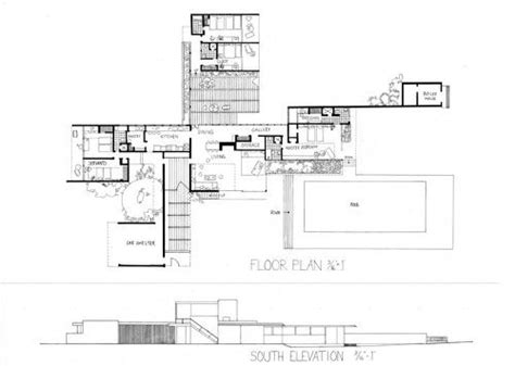 kaufmann desert house floor plan kaufmann house plan google search design pinterest