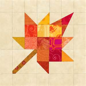 Maple Leaf Quilt Block Pattern by 301 Moved Permanently
