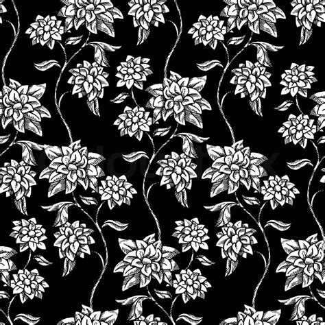 black and white pattern wallpaper vintage style vintage floral background beautiful flowers fashion