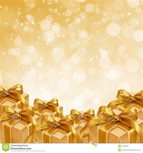 wallpaper abstract gift gold gift box on abstract gold background stock