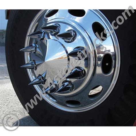 Why Do Trucks Spikes On Rims Front Axle Cover W Pointed Center Cap Spike Nut Covers