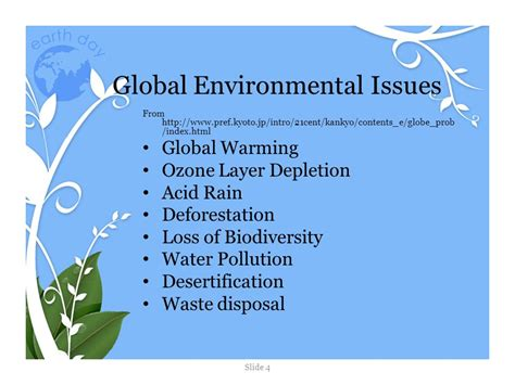 On Environmental Issues