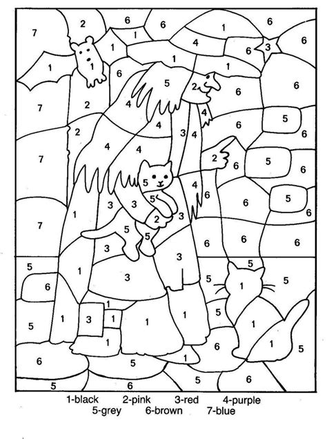 english numbers coloring pages halloween color by number page coloring home