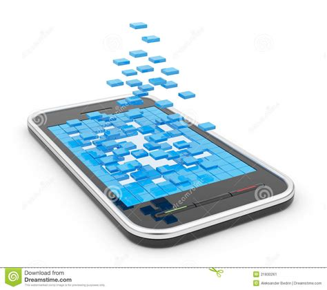 3d mobile phones mobile smart phone with abstract shapes 3d stock image