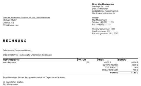 Rechnung Schweiz Mehrwertsteuer Dienstleistung Rechnungsverwalter