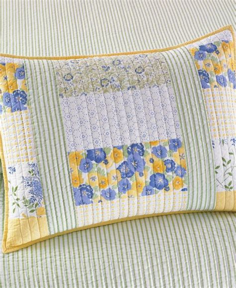Martha Stewart Patchwork Quilt - martha stewart collection blue yellow patchwork posey