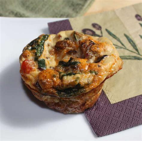 Muffin Cup egg muffin cups packed with vegetables and sausage