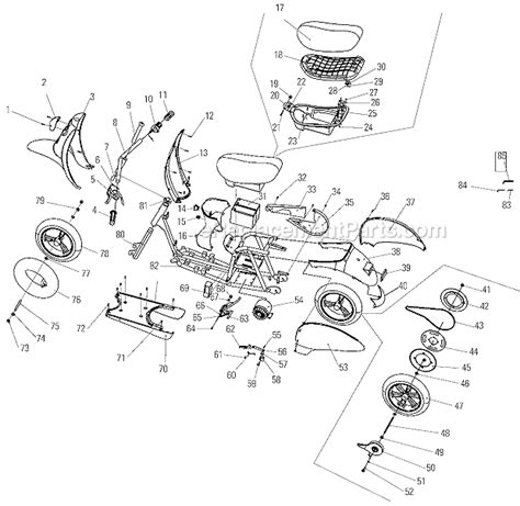 razor pocketmod parts list and diagram ereplacementparts