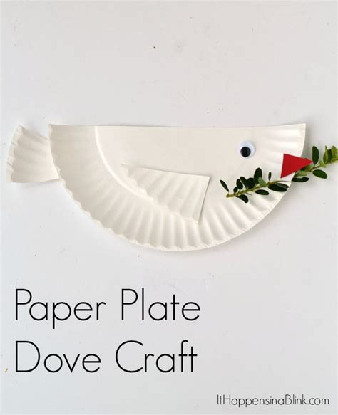 Paper Plate Crafts For Sunday School - dove paper plate craft for great craft for vbs
