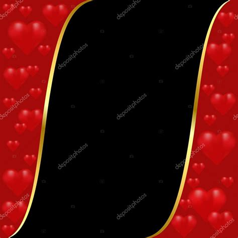 Maroon Black maroon and black background with a gold stripe and hearts