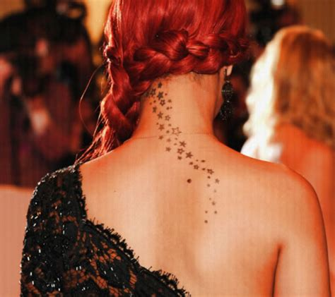 rihanna tattoo on her neck neck star tattoos