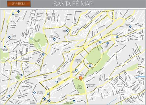 where is santa fe on the map santa fe map mexico city
