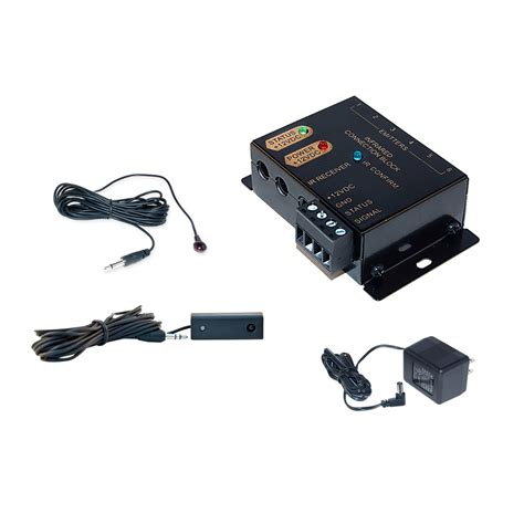 Infrared Kit Black Color By Isee ir extender kit with connecting block receiver