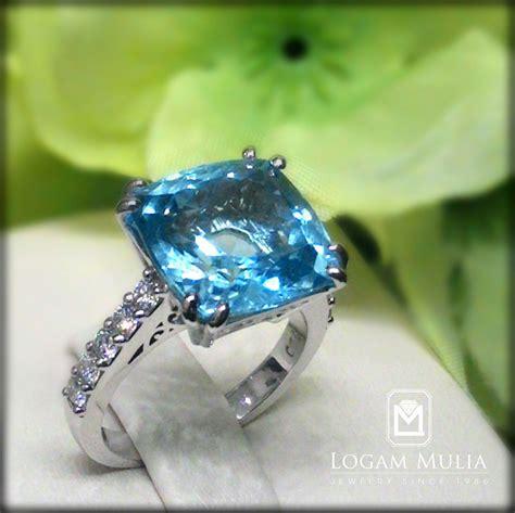 Cincin Wanita Blue Topas Bertahta Berlian jual cincin berlian wanita dg blue topaz crw mj2360r ssds