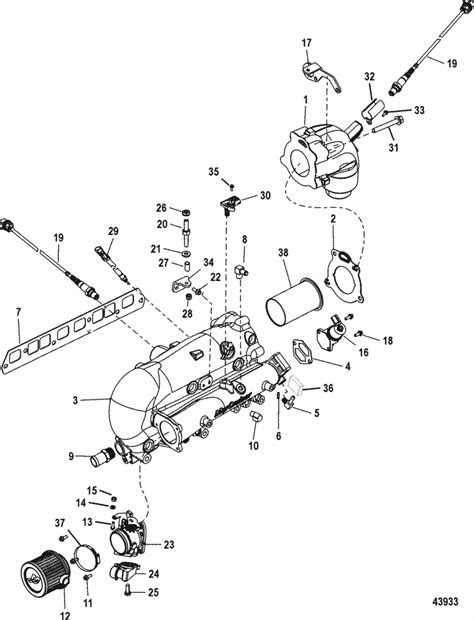 mercruiser throttle diagram mercruiser 3 0l mpi ec intake exhaust manifold
