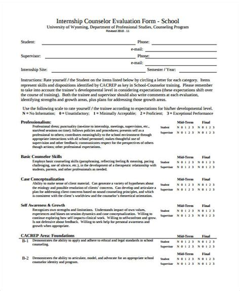 counselling assessment form template 48 counseling form exles