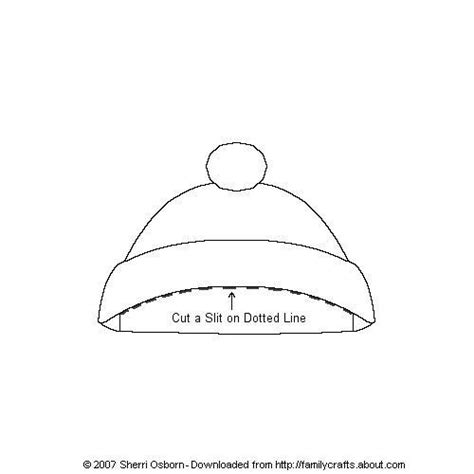 winter hat template printable paper doll outerwear