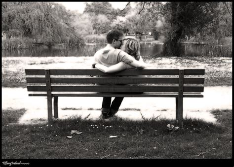 lovers on a park bench park bench love by kilzet on deviantart