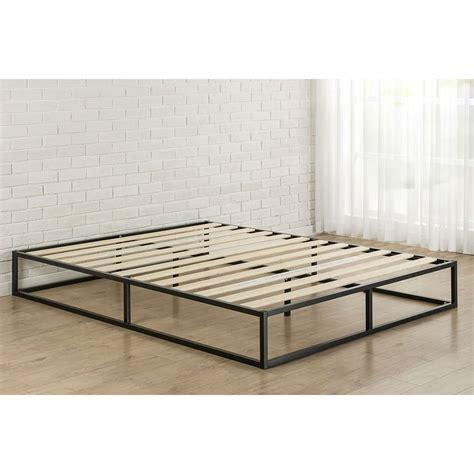 Bed Frame Wood Slats Greenhome123 10 Inch Low Profile Metal Platform Bed Frame With Wood Slats