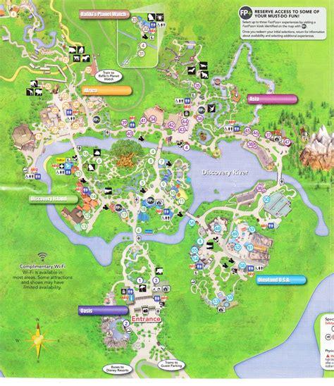 printable map of animal kingdom disney s animal kingdom 2016 park map