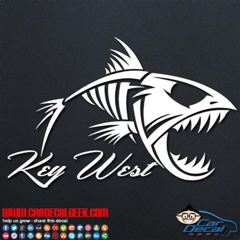 key west boats decal key west fish skeleton vinyl car decal sticker fishing