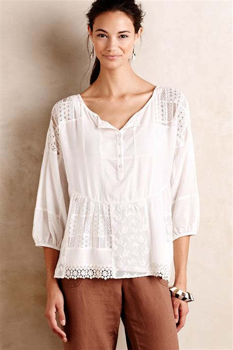 Peasant Blouse what is a peasant blouse lace henley blouse