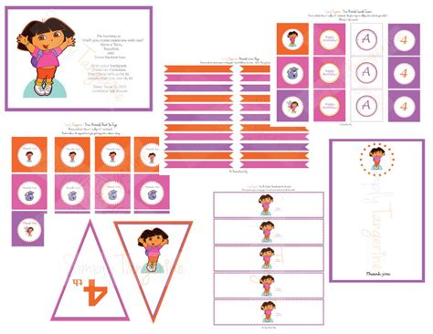 dora the explorer printable party decorations dora the explorer party printables simplytangerine com