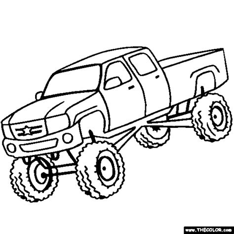 coloring page big truck coloring page monster truck big monster trucks stylin