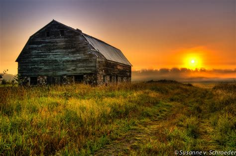 Western Home Decore by Wisconsin Barn Photo Sunrise Nature Photography Fine Art