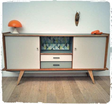 renovation pavillon annee 70 enfilade vintage pieds compas 233 es 50 oompa meubles