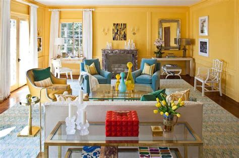 bright blue and yellow living room grey blue and yellow