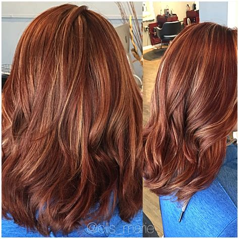 hairstyles blonde with red highlights red copper blonde highlights my portfolio pinterest