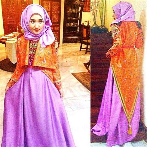Baju Muslim Brokat Dian Pelangi contoh model baju gamis ala dian pelangi terbaru