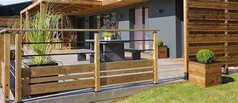 garde corp bois pour terrasse 2756 balustrade bois exterieur pas cher