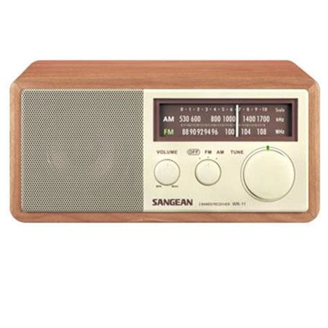 Cabinet Am Fm Radio by Sangean Wr11 Wood Cabinet Am Fm Table Top Radio