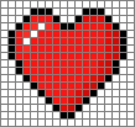 heart pattern on graph paper minecraft heart grid by dragonshadow3 on deviantart