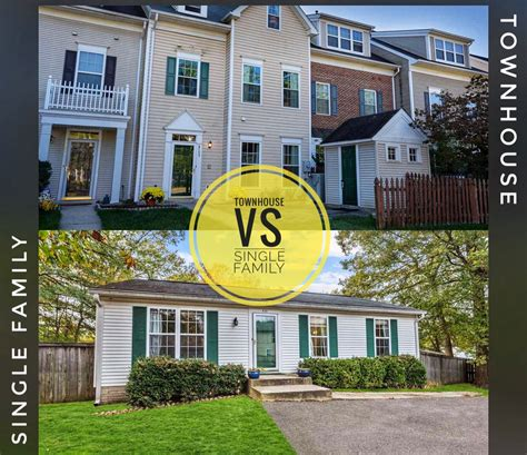 townhouse vs single family living