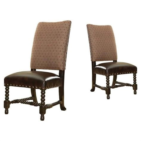 bahama home kingstown edwards leather dining chair