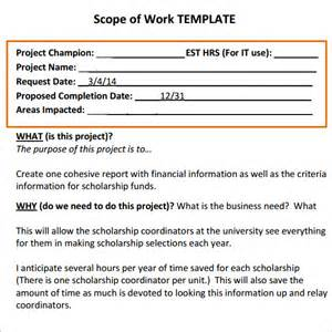 scope of work template construction scope of work template excel