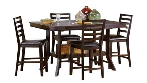 Slumberland Kitchen Tables Slumberland Furniture Bobbie Collection Espresso Counter Dining Set Slumberland Furniture