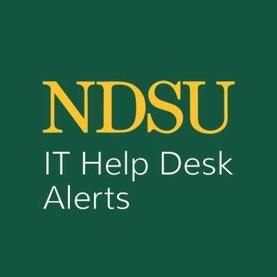 ndsu it help desk ndsu help desk alert ndsu it alert twitter