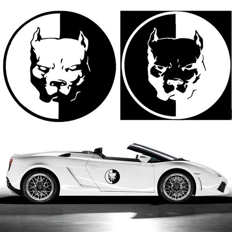 car decal stickers 12 12cm pitbull car motorcycle stickers 3d car