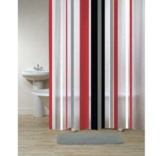 urban beat shower curtain grey and red shower curtain black red gray white