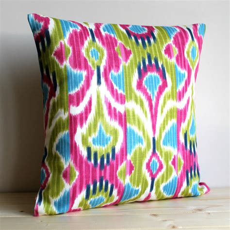 Ikat Pillow Cover by Cerise And Green Ikat Pillow Cover 16 X 16 Ikat By Couplehome