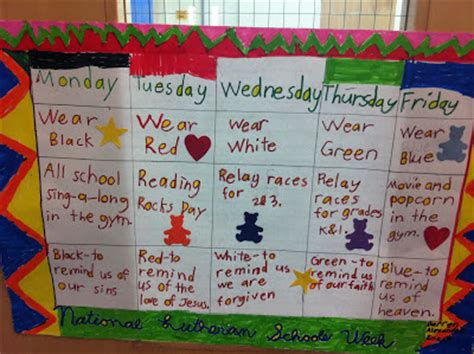 themes for reading week all the dots national lutheran schools week