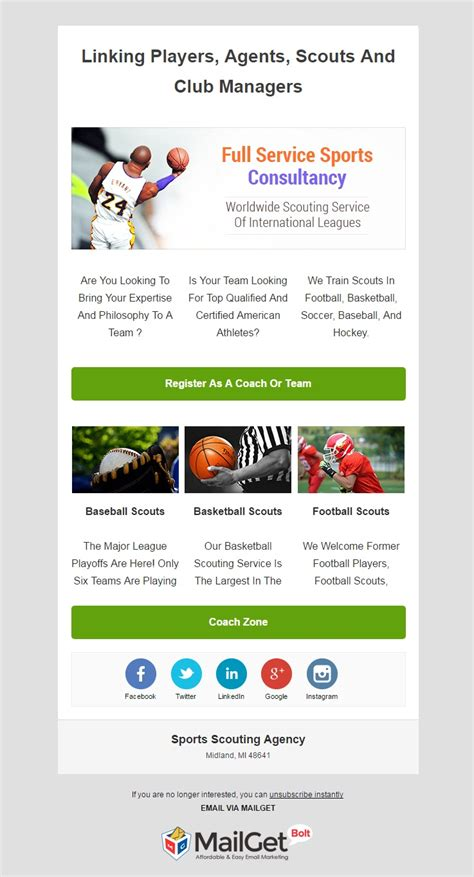 11 Best Sports Email Marketing Services Formget Marketing Cloud Email Templates
