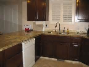 Refurbished Kitchen Cabinets Cabinets Refinished To Match Countertops